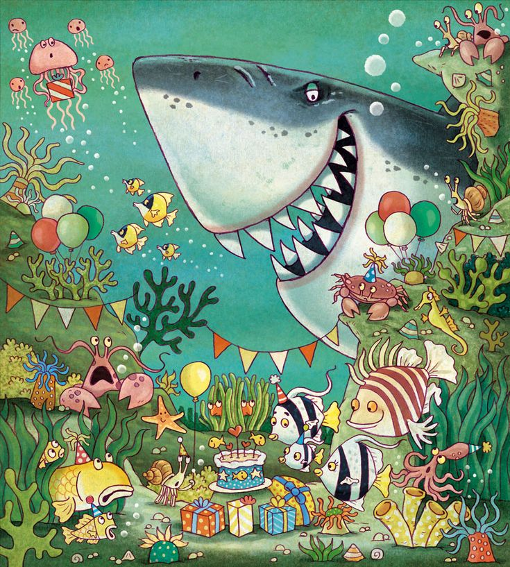 Praatplaat kleuters / Party under sea