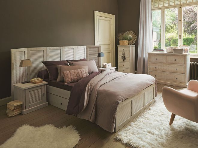 tete de lit persienne alinea. Black Bedroom Furniture Sets. Home Design Ideas