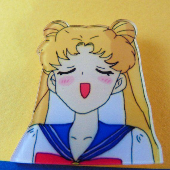 Sailor Moon Pin Singing Serena Tsukino Acrylic Manga Girl Cartoon