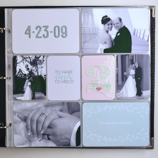 Memory Keeping: Wedding Project Life Album Title Page