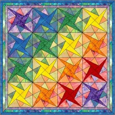 Patchwork patroon: Sparkling star met variaties
