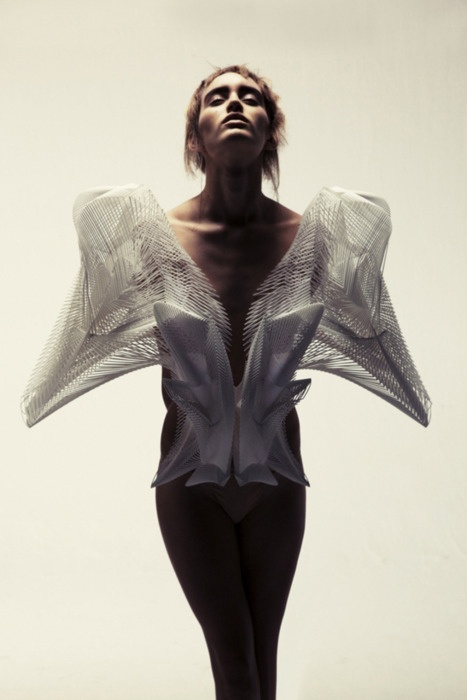 This parametric design would be an interesting direction for fashion + Desolution   FUTURISTIC FANTASY   Pinterest   Parametric design, Fashion and Body adornm…