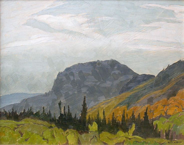 """October, Near Lake Vernon,"" A.J. Casson, 1980, oil on panel, 12 x 15"", private collection."