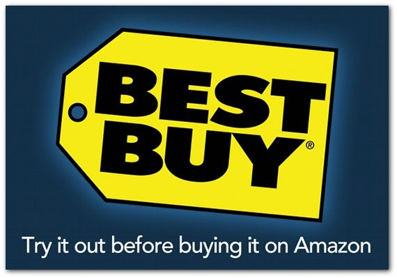 So true! Best Buy: Try it out before buying it on Amazon.: Free Gifts, Honest Slogan, Gifts Cards, Blackfriday, Digital Clocks, Buy Gifts, Price Tags, Buy Black, Black Friday