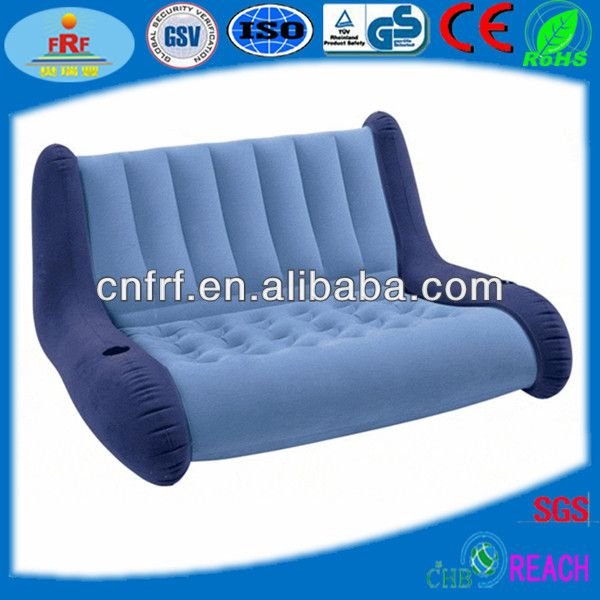 New Intex Double Size Inflatable Flocked Air Sofa Chair Lounge Seat C