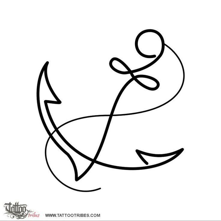 Simple anchor In marine iconography the anchor is a symbol of stability, home, the safe harbour and the steadyness of one´s own decisions. http://www.tattootribes.com/index.php?newlang=English&idinfo=6630