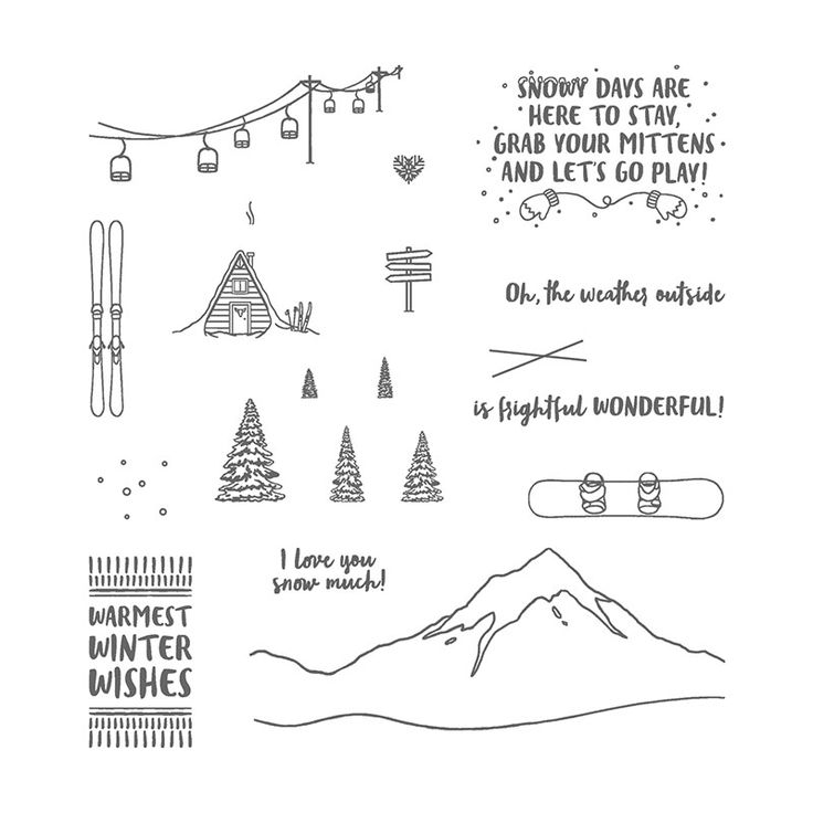 Mountain Adventure Photopolymer Stamp Set by Stampin' Up!