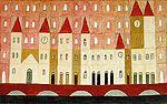 Volpi, Alfredo  [Cidade de Criança, Brinquedo de Armar]  , déc. 1950  têmpera sobre tela, c.i.e.  73,1 x 116,2 cm  Coleção Particular  Reprodução fotografica Romulo Fialdini