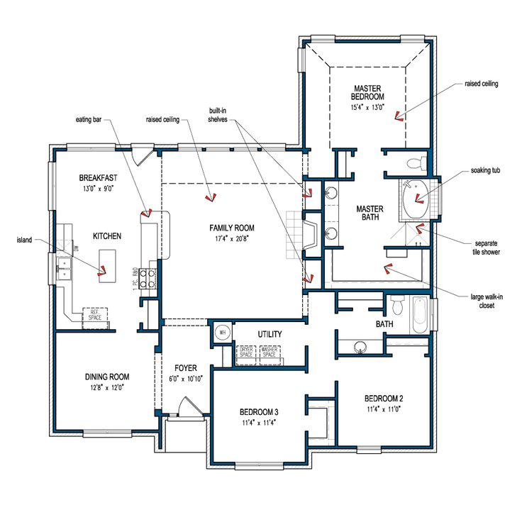 Bridgeport tilson homes home mostly one level for Family home plans 82230