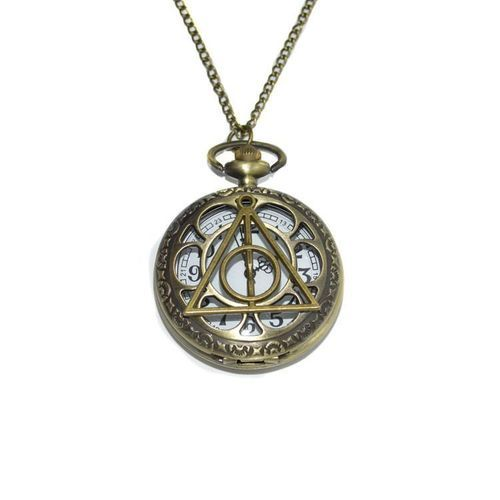 Harry Potter Deathly Hallows horloge ketting - CustomJewels.nl
