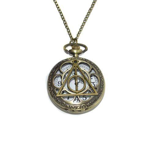 Harry Potter Deathly Hallows horloge ketting - CustomJewels.nl