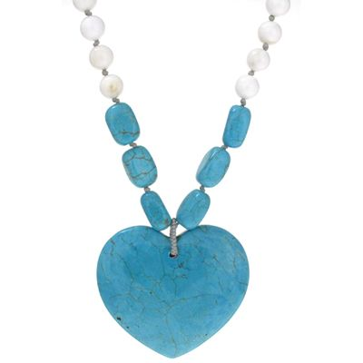 Lola Rose Vivian Pendant Necklace Natural Blue Seashell