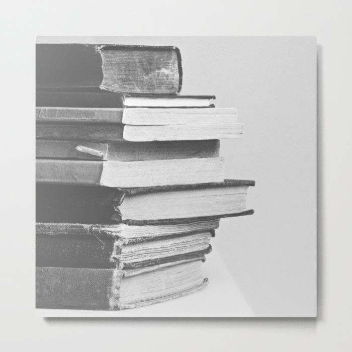 Books metal print by Tea And Tiffin