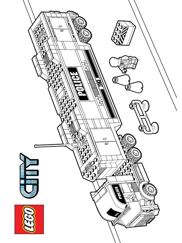 lego coloring pages - Lego City Airplane Coloring Pages