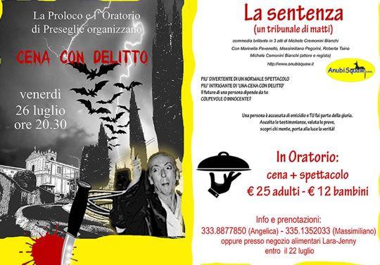 Cena con Delitto a Preseglie http://www.panesalamina.com/2013/14104-cena-con-delitto-a-preseglie.html