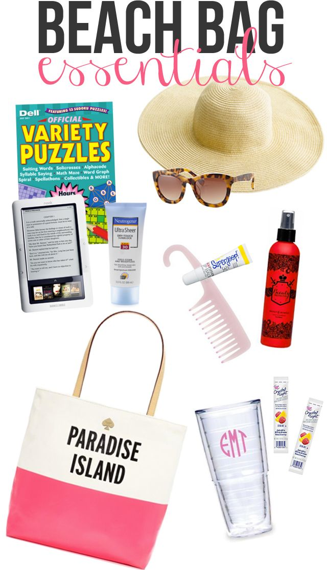 Beach Bag Essentials - post by @Caitlin C.