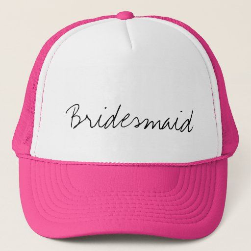 Bridesmaid Trucker Hat Zazzle Com In 2021 Trucker Hat Pink Hat Neon Pink