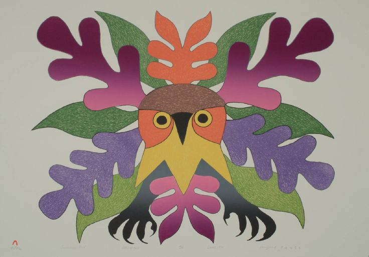 Kenojuak Ashevak - Summer Owl (1979) 22.75 x 31 original lithograph edition of 50