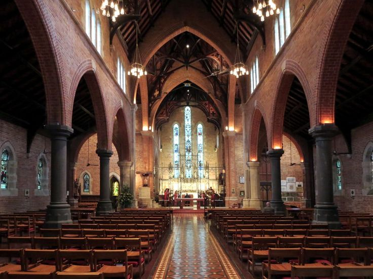 St Georges Anglican Cathedral (1888) in Perth, Western Australia, is in the Gothic Revival style.