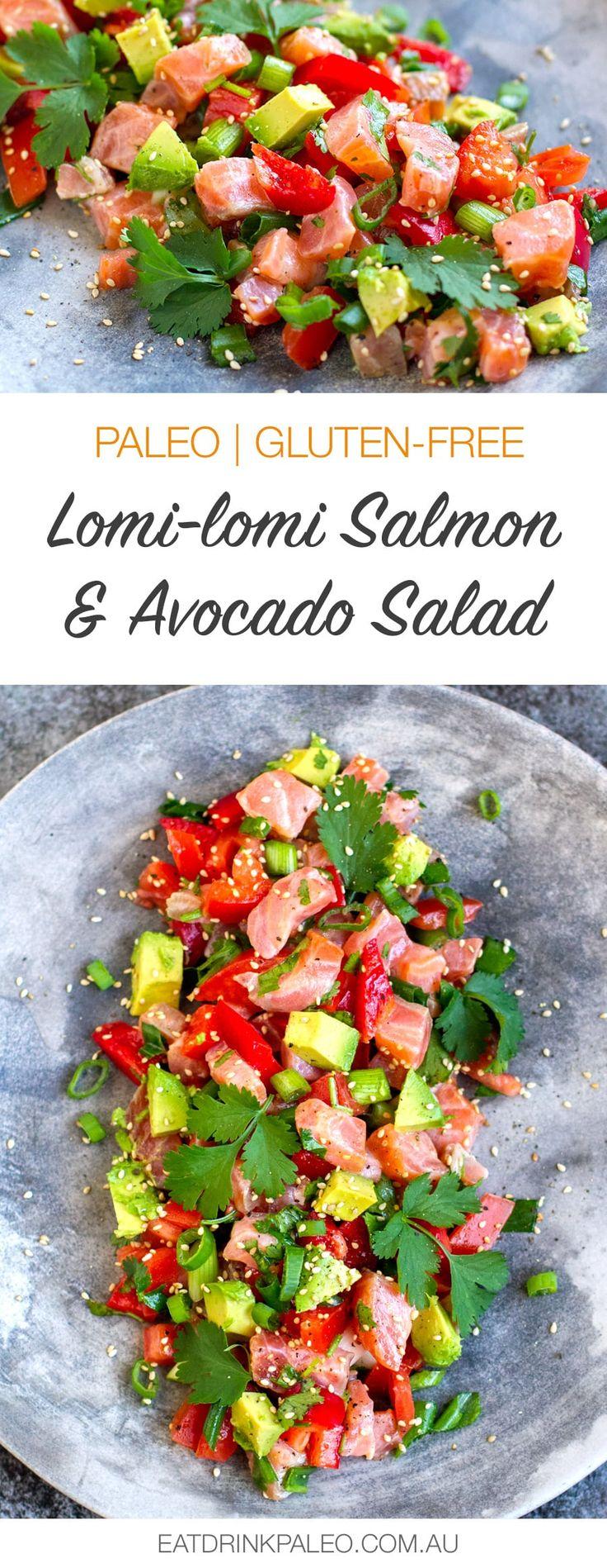 Paleo Lomi-Lomi Salmon & Avocado Salad