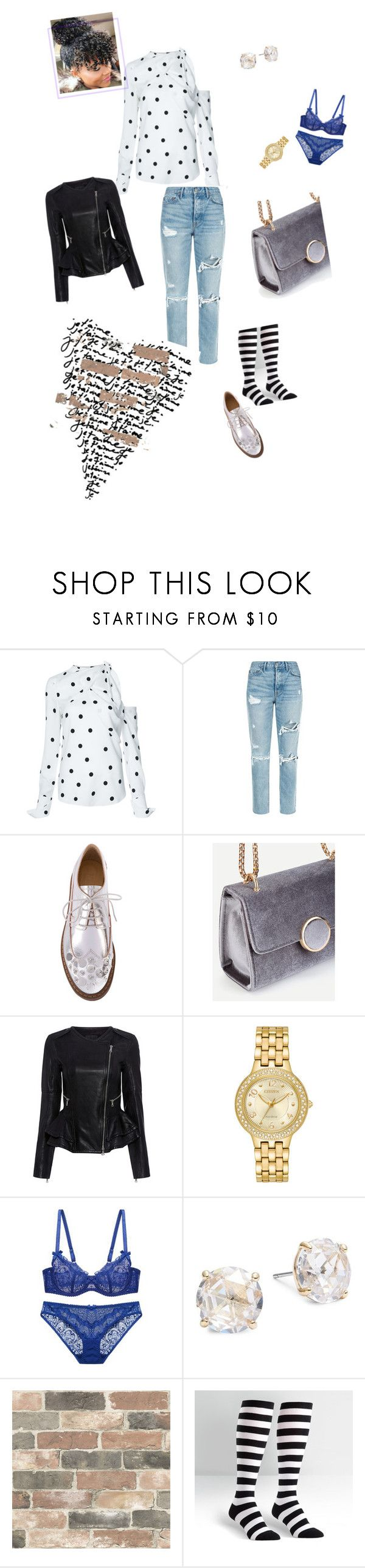"""""""Peace & Blessings"""" by lady-jordan ❤ liked on Polyvore featuring Monse, GRLFRND, MM6 Maison Margiela, Marissa Webb, Citizen, Kate Spade, Wall Pops! and Sock It To Me"""