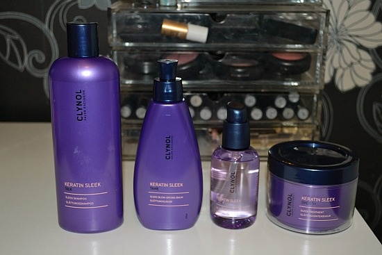 Lining up the products ready to try! http://www.carlywritesablog.com/2012/11/clynol-keratin-sleek-before-after_4289.html