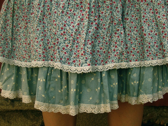multi-layered skirt vs dress with lace