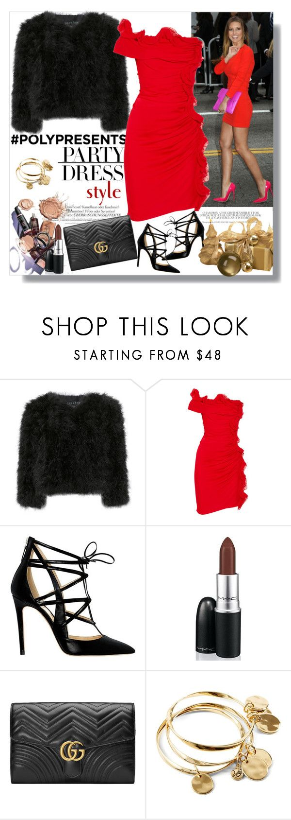 """""""Polypresents....Party Dresses"""" by teah507 ❤ liked on Polyvore featuring Melissa, Jocelyn, Catherine Malandrino, Alejandro Ingelmo, Mikasa, Gucci, Vera Bradley, contestentry and polyPresents"""