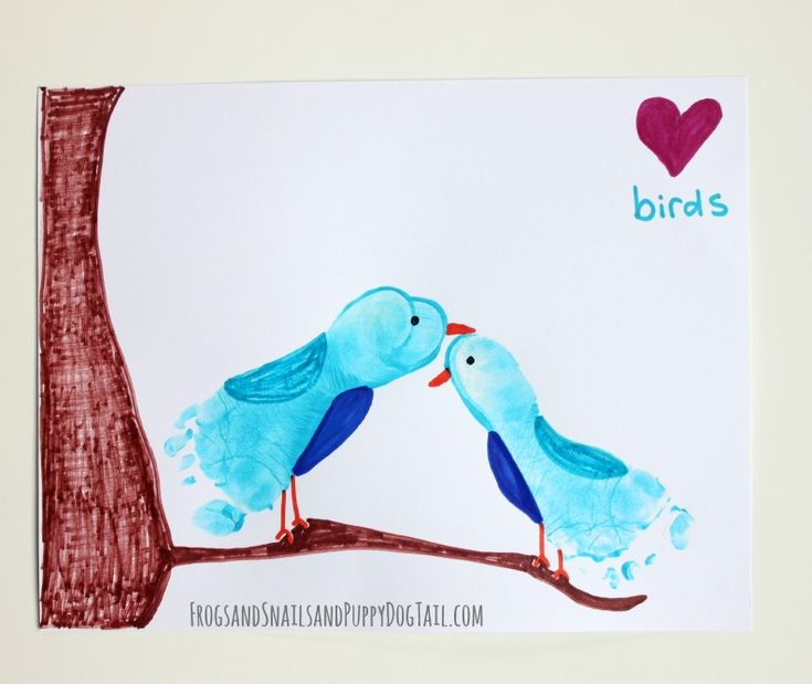 Love Bird Footprint Art - FSPDT