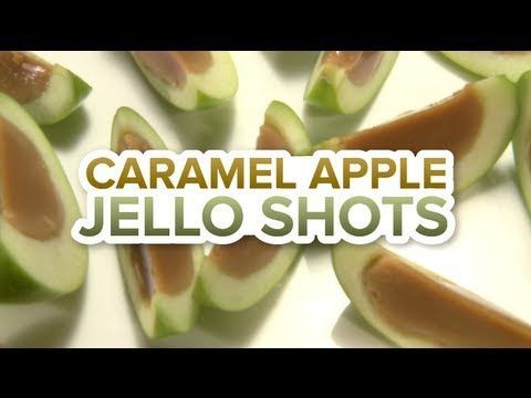 How To Make Delicious Caramel-Apple Jello Shots...I'd like to try making these without the alcohol.