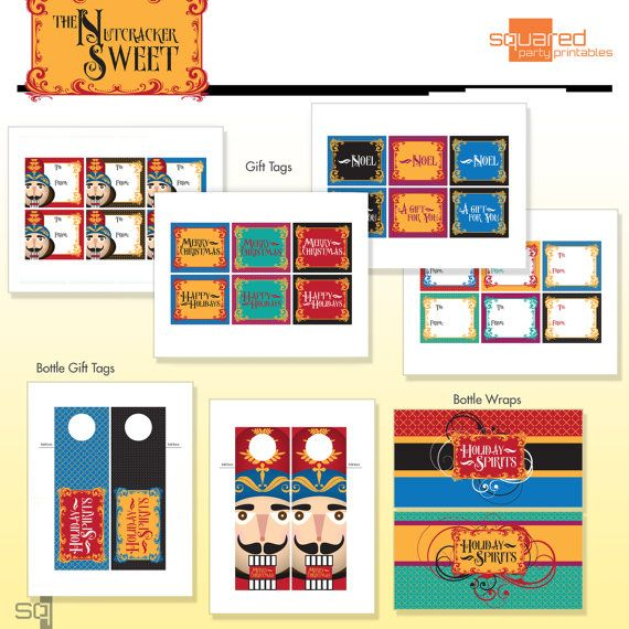 32 best nutcracker sweet christmas holiday party images on nutcracker christmas holiday party printables diy printable package do it yourself print kit t solutioingenieria Image collections