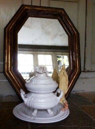 Antieke Spiegel & Franse Soepterrine