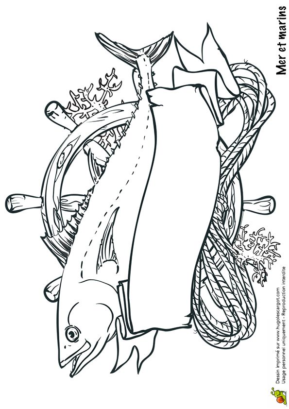 Coloriage mer et marin trophe de peche sur hugolescargot - Hugo l escargot com coloriage ...