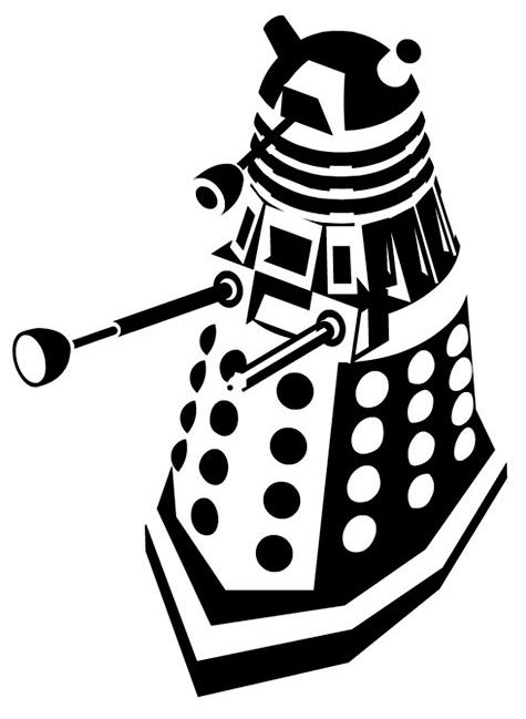 You never know when you'll need a good Dalek stencil