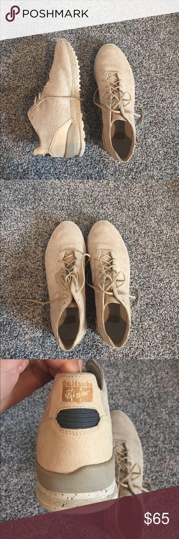 Tan suede sneakers Purchased from urban outfitters. So cute and look similar to yeezys but they are just too big for me. I wore them once. Onitsuka Tiger Shoes Sneakers