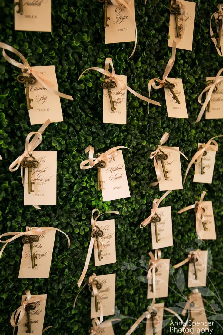 secret garden theme wedding. Garden and key guest seating chart wall