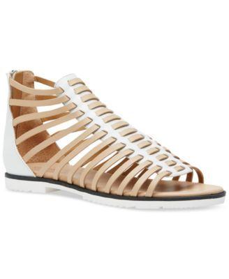 Calvin Klein Women's Maze Strappy Flat Gladiator Sandals   macys.com