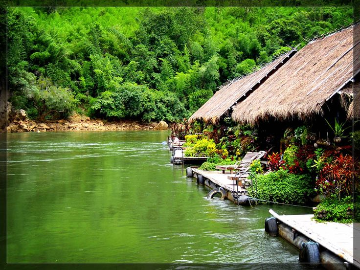 River Kwai Jungle Raft Resort since 1976. Thailand. Awesome place!
