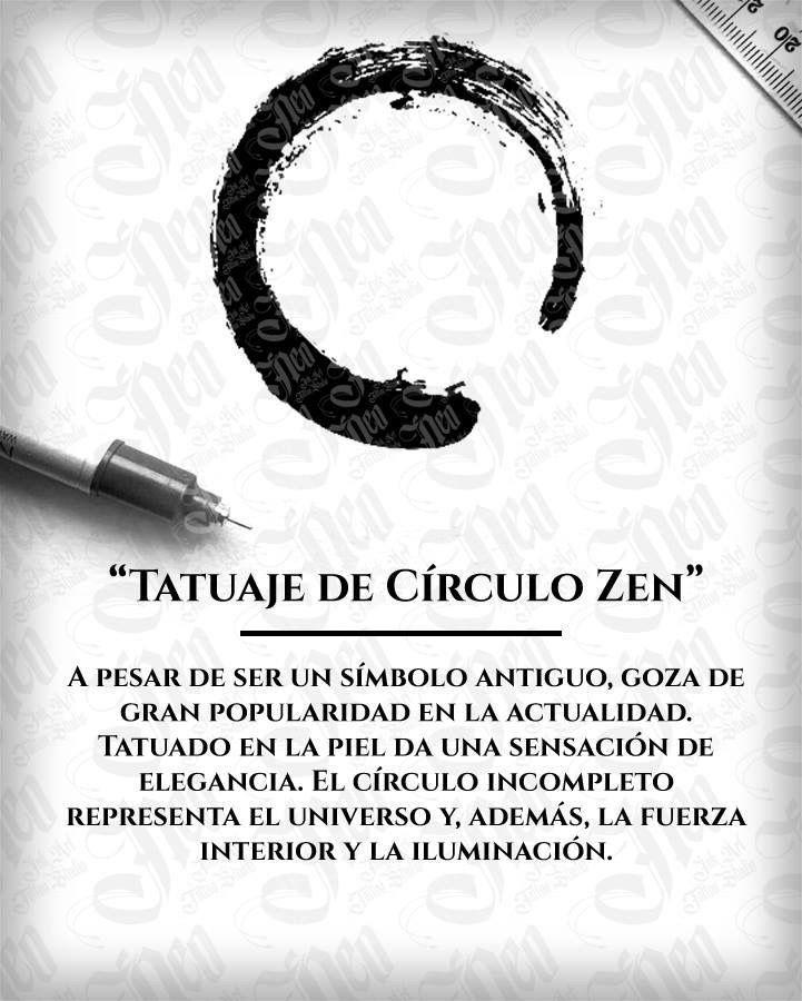 Tatuaje de círculo Zen.
