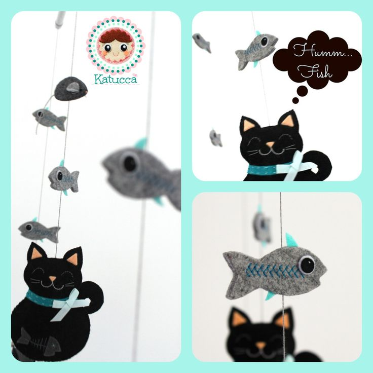 READY TO SHIP- Baby Mobile - Cat's Family Mobile - Baby Crib Mobile - Nursery Decor- Baby Mobile- Cats Baby Mobil by Katucca on Etsy https://www.etsy.com/listing/203015138/ready-to-ship-baby-mobile-cats-family