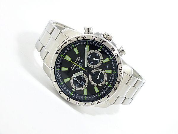 【楽天市場】【送料無料】 SEIKO セイコー クロノグラフ 逆輸入 メンズ 腕時計 ブラック文字盤 シルバーステンレスベルト セイコー腕時計 ssb027p1 メンズ腕時計 人気ブランド腕時計 メンズウォッチ[mir246523【楽ギフ_包装】:Luxfine select楽天市場店