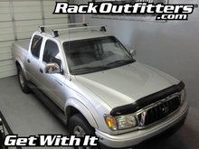 """This complete multi-purpose base roof rack is for the1996, 1997, 1998, 1999, 2000, 2001, 2002, 2003 and 2004Toyota Tacoma 4 Door Quad Cabthat has the """"""""bare"""""""" or """"""""normal"""""""" roof, includes models eq"""