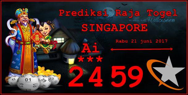 Prediksi Raja Togel Singapore Rabu 21 Juni 2017