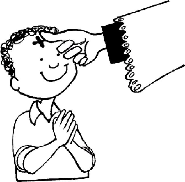 free ash wednesday coloring pages