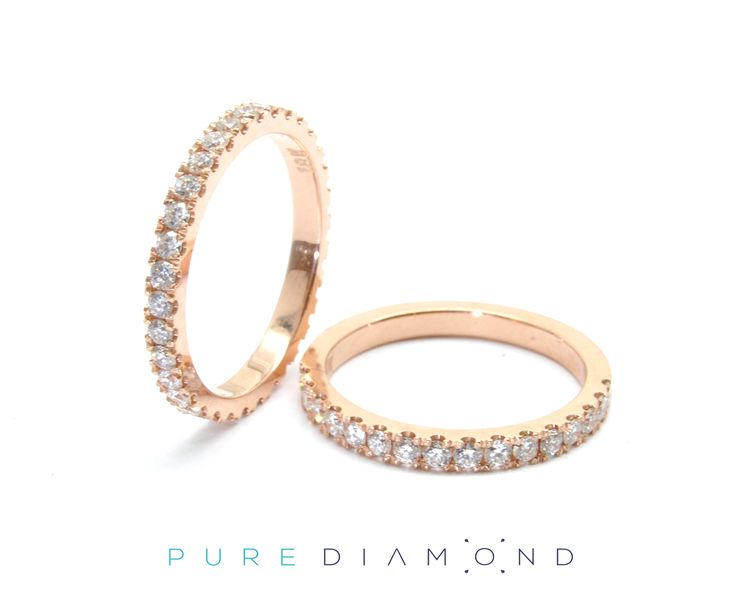 Popular Rose Gold Wedding Bands. At PureDiamond.ca we have unparalleled friendly service.  If you're in the Greater Vancouver area please call (604) 563-9875 to book an appointment.