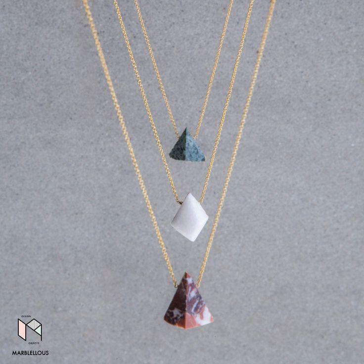 Marble Diamonds Necklaces by Marblellous  www.marblellous.com