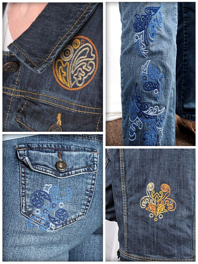 Best embroidery on clothing images pinterest