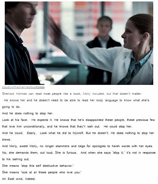 "Molly Hooper, East wind I AM SO DONE WITH ALL THESE SHERLOLLY FEELS I JUST CAN""T"