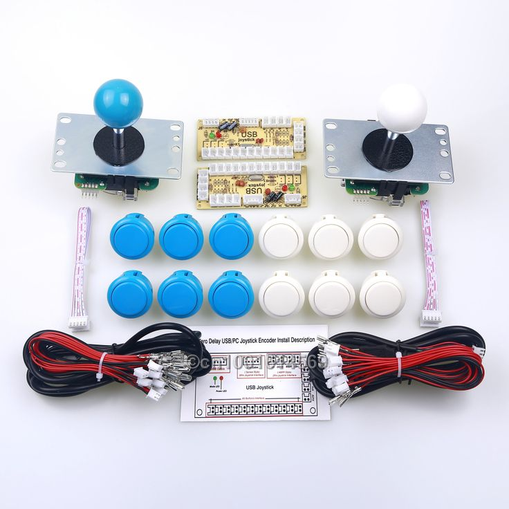 ==> [Free Shipping] Buy Best Arcade USB MAME Cabinet 12 x Sanwa Button  2 x Arcade Sanwa Stick  PC Encoder For Marvel vs Street fighter Game - White  Blue Online with LOWEST Price | 32378879133