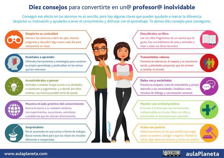 10 consejos para convertirte en un profesor inolvidable #infografia
